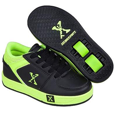 ae6dcc739ecd Sidewalk Sport Boys  Trainers Black Black Green  Amazon.co.uk  Shoes ...