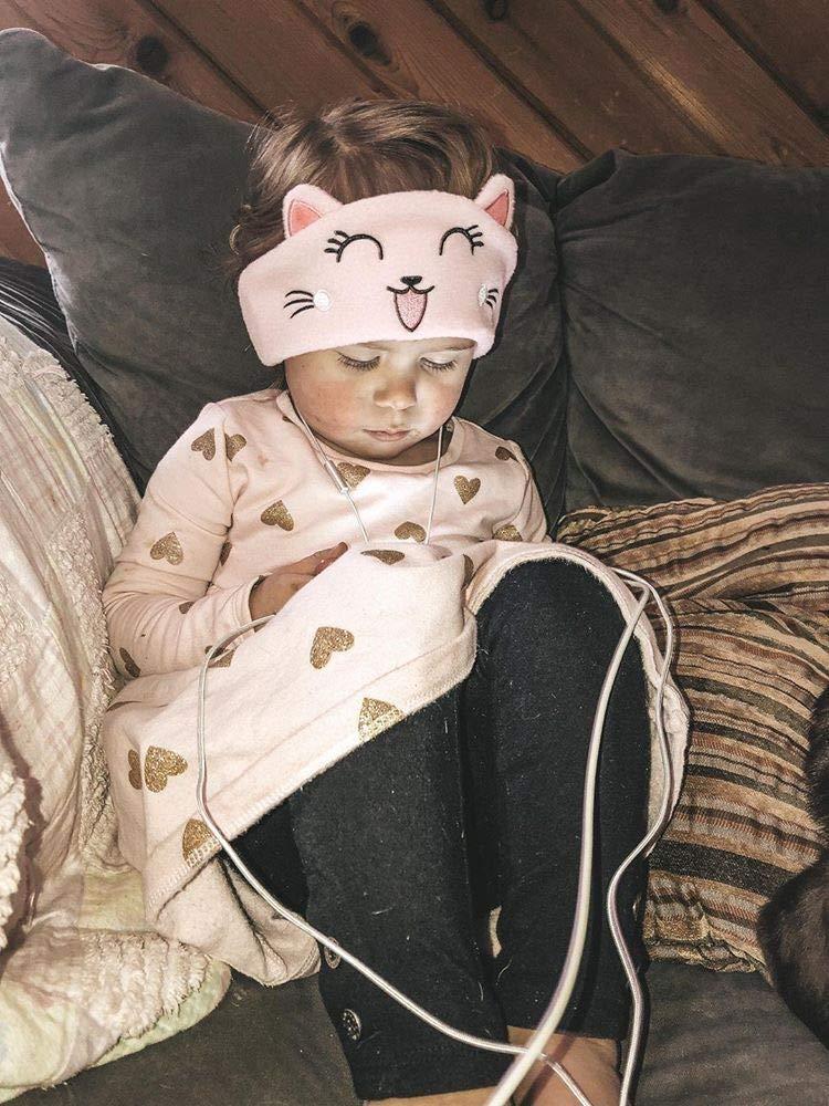 limitation du Volume avec des Haut-parleurs Ultra-Minces et Ajustables Casque pour Enfant en Laine Polaire Doux pour Enfant pour la Maison et Le Voyage Casque pour Enfants Kitten