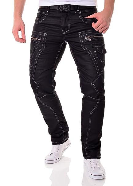 Pantalones vaqueros negros para hombre Cipo & Baxx con ...
