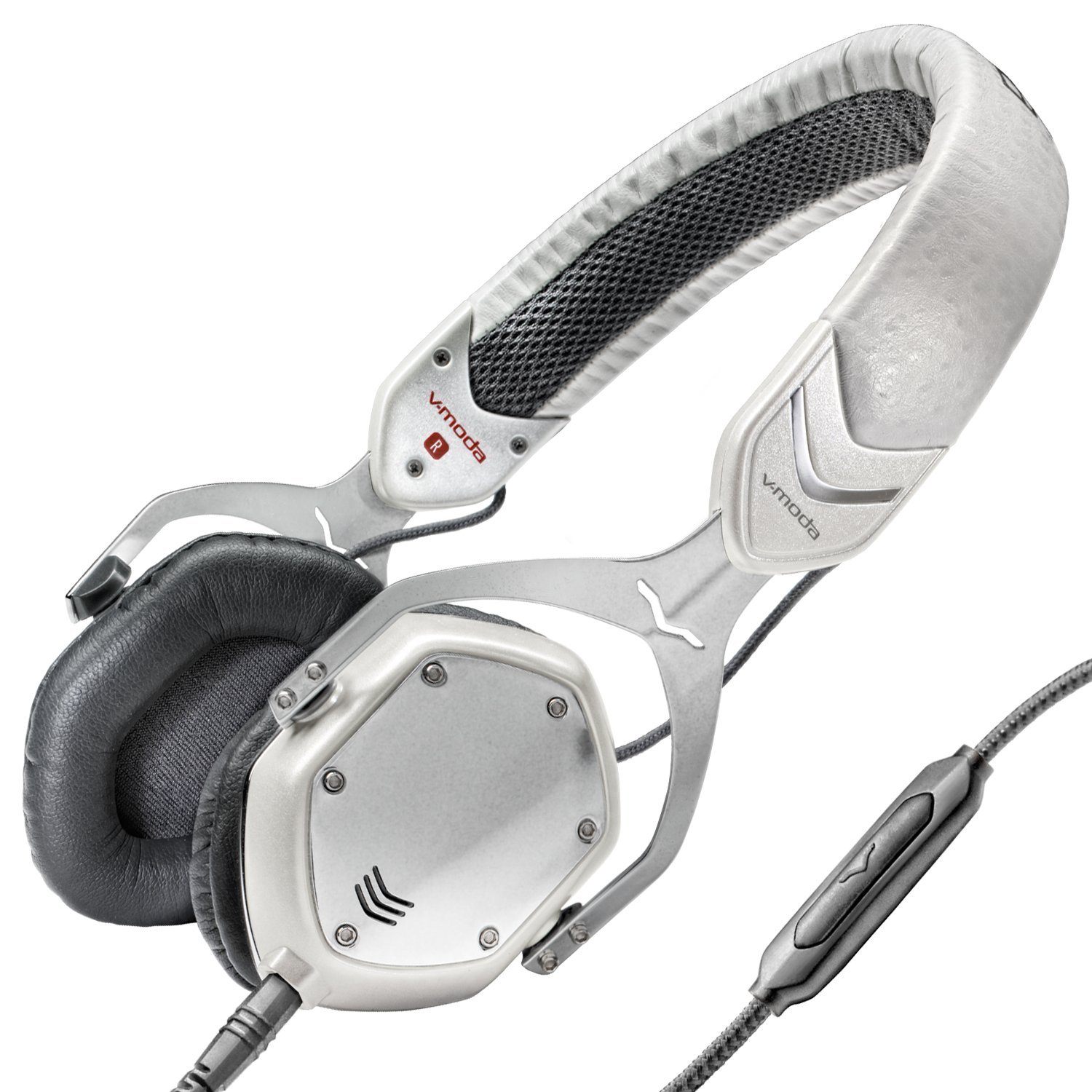V-MODA Crossfade M-80 Vocal On-Ear Noise-Isolating Metal Headphone, White Silver by V-MODA