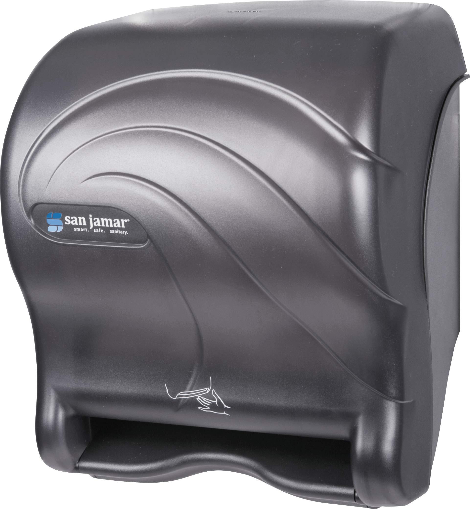 San Jamar T8490TBK Smart Essence Oceans Hands Free Paper Towel Dispenser, Black Pearl by San Jamar (Image #1)
