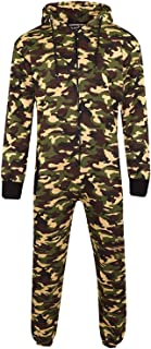 Men Women Unisex Halloween Printed Army Hoodie Jumpsuit Playsuit All in One Piece