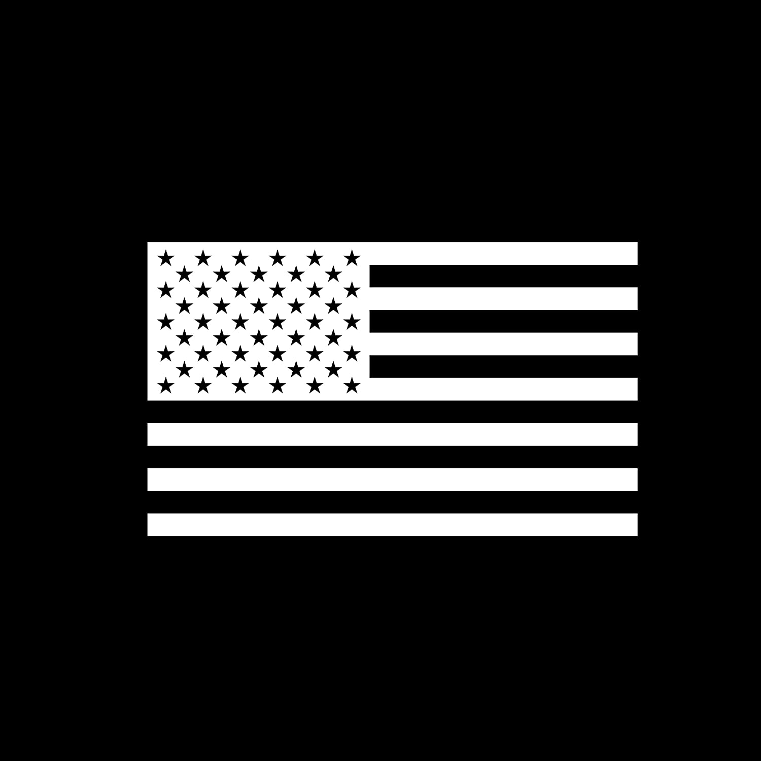 AGL American US Flag Vinyl Decal Sticker for Laptop/Car/Truck/Jeep/Window/Bumper (7.5 in x 4.5 in, White Color)