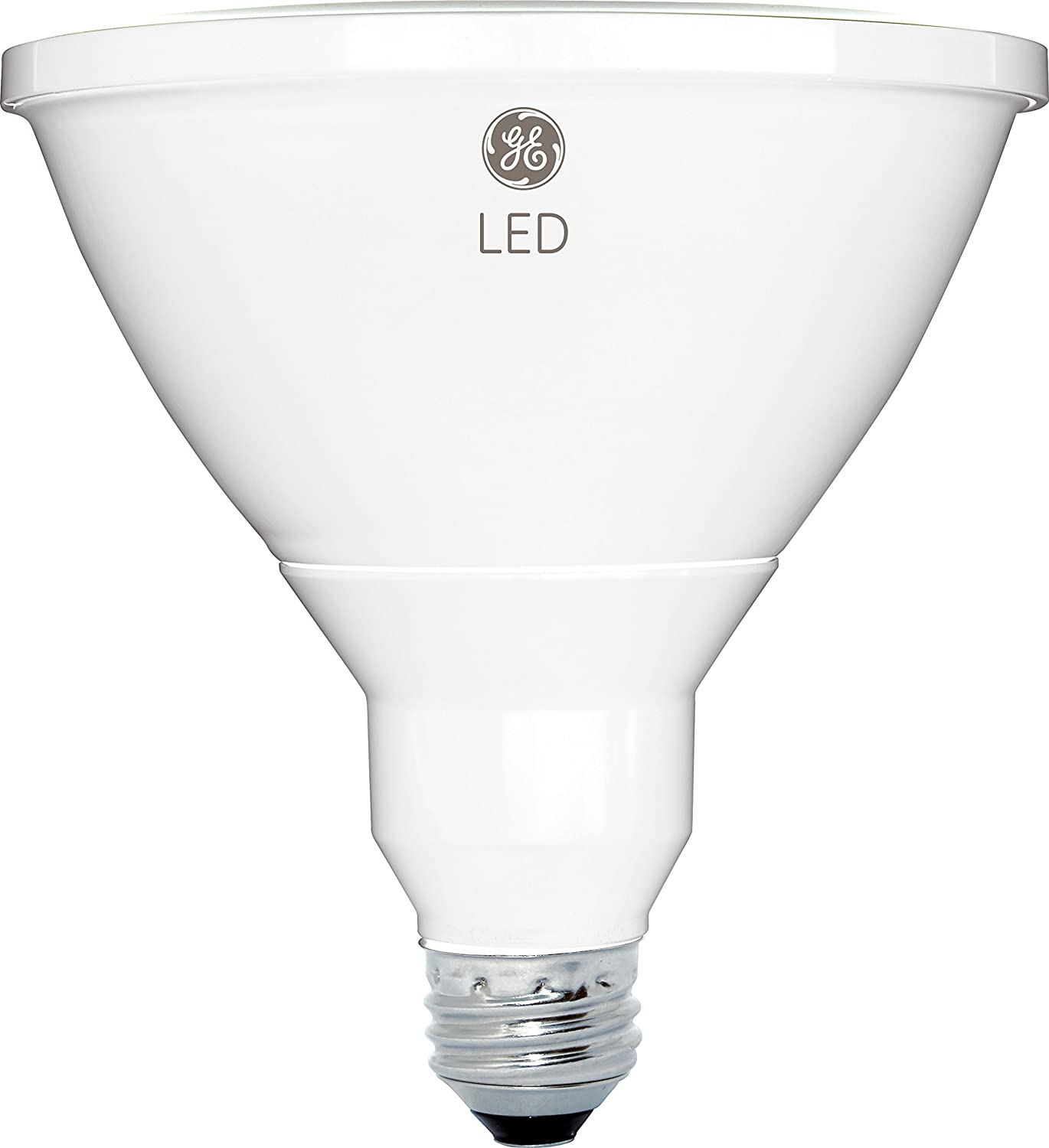 GE Lighting 13187 LED 15-watt (90-watt replacement), 1300-Lumen PAR38 Outdoor Floodlight Mono-Fresnel, Bright White