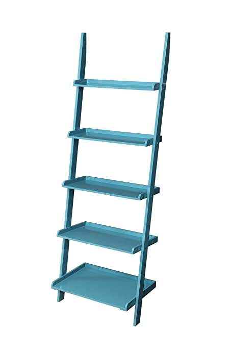 Convenience Concepts French Country Bookshelf Ladder Blue