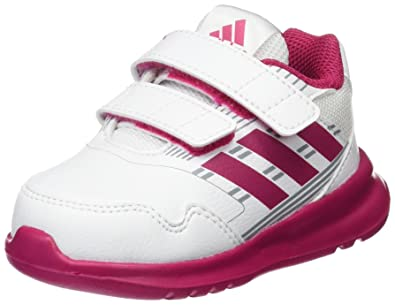 adidas Altarun CF, Baskets Bébé Fille, Blanc (FTWR White/Bold Pink/