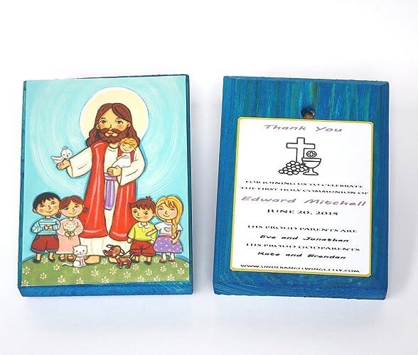 Amazon Com Jesus With Children Boy First Communion Favors Boy First