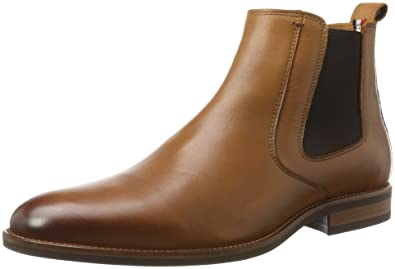 f5c6b5de6 Tommy Hilfiger Men s Essential Leather Chelsea Boots  Amazon.co.uk ...