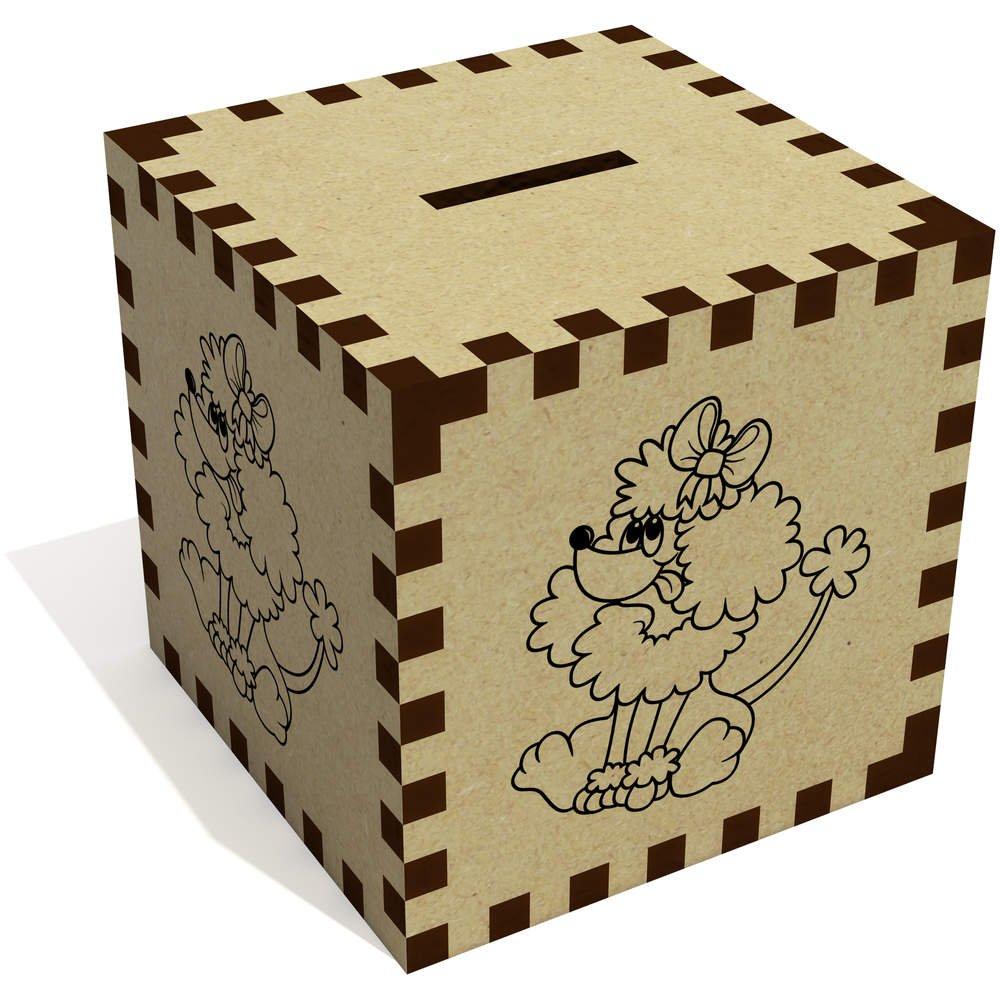 MB00054983 Azeeda Poodle Dog Money Box Piggy Bank