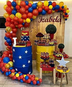 Putwo Dore Rouge Bleu Jaune Ballon 85pcs 12 Pouces Ballon