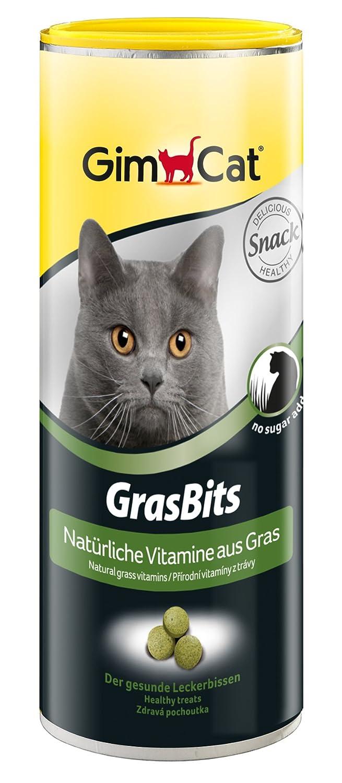 GimCat GrasBits - Friandises pour chat, à base d'herbe à chat - Sans sucre ajouté - Riche en fibres et en vitamines - Sachet de 40 g 417271 biscuits chat bonbon chat bonbon chaton