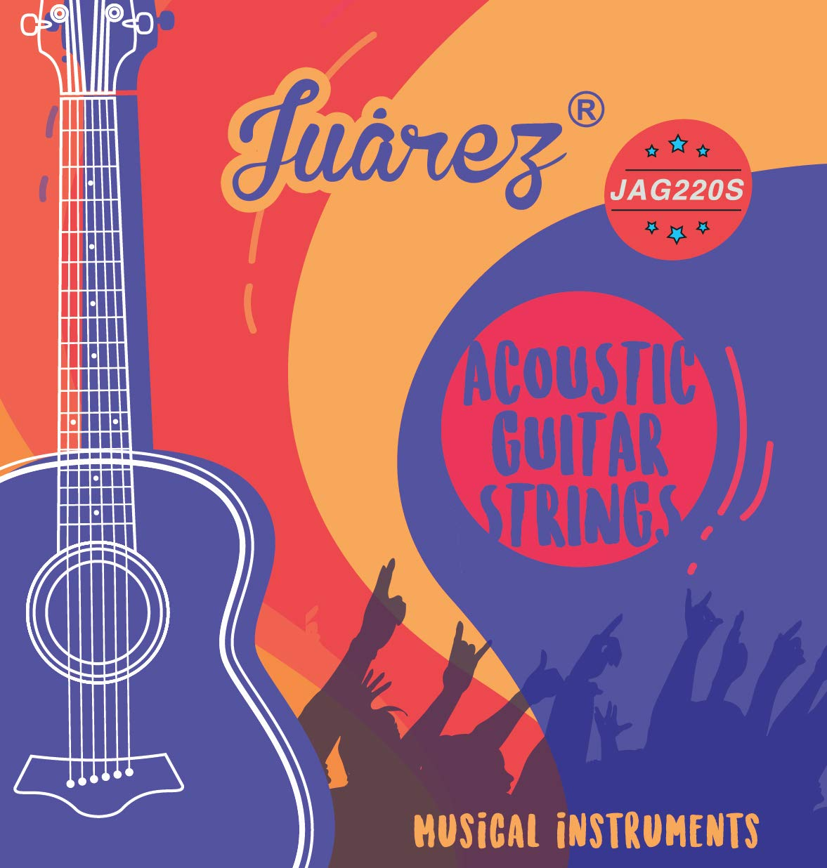 [Apply coupon] JUAREZ 7 Piece Phosphor Bronze Extra Light Acoustic Guitar Strings Set, Stainless Steel, Steel Core, Anti Rust Coat Strings (E 1st x 2 Pc, B-G-D-A-E x 1 pc)