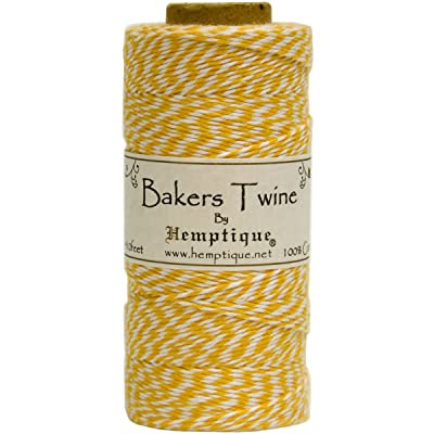 Hemptique BTS2YEL-W Baker's Twine Spool, Yellow and White: Arts, Crafts & Sewing