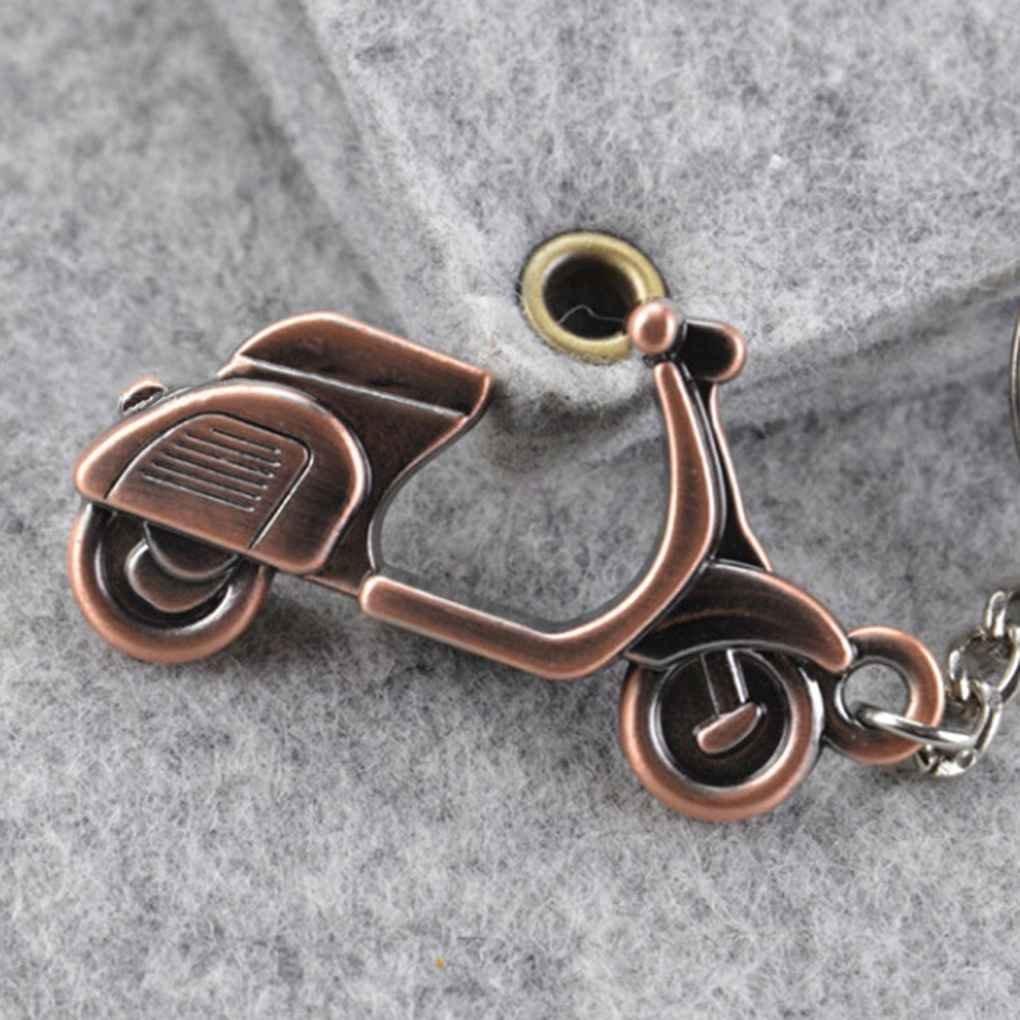 Vkospy 3D de la Motocicleta Vespa de Coches llaveros Llavero Mando Llavero Colgante