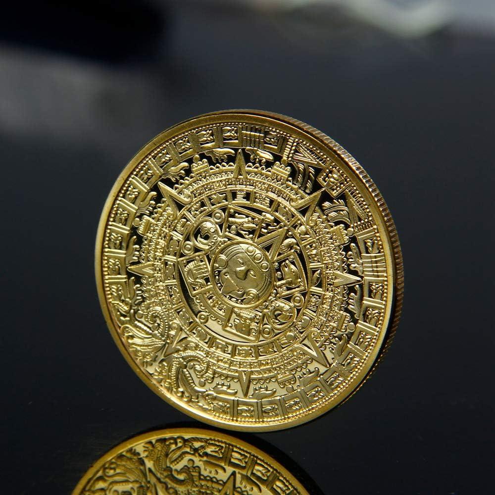 BODYART Calendario Maya Azteca Chapado en Oro Moneda Conmemorativa ...