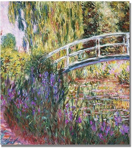 Fine Art Print//Poster The Japanese Footbridge Claude Monet