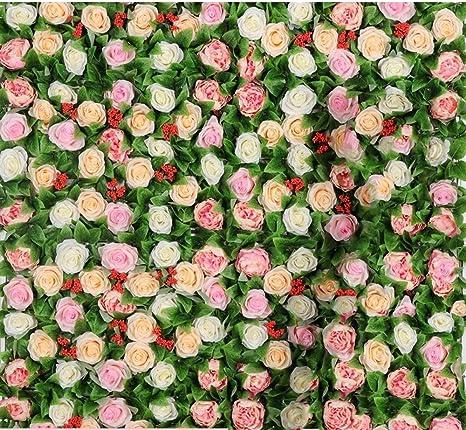 Decoración de flores artificiales, decoración de pared para bodas ...