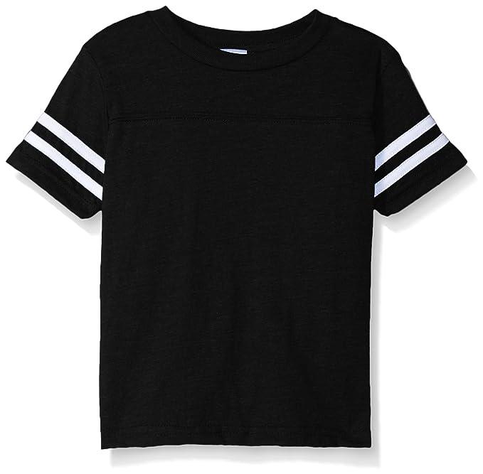 fa91b32b521f08 Amazon.com  Clementine Kids Toddler Football Fine Jersey T-Shirt ...