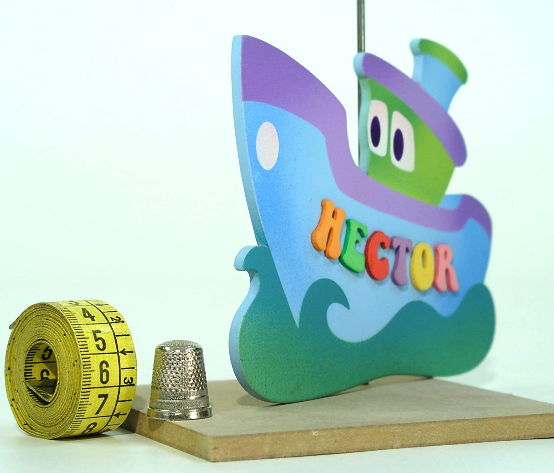 Lettres De Plaque Enfants Bateau Bleu Prenom Produits Handmade Jeux Et Jouets