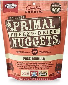 Primal Fpkfd5.5 Pet Foods Freeze-Dried Feline Pork Formula, 5.5 Oz.