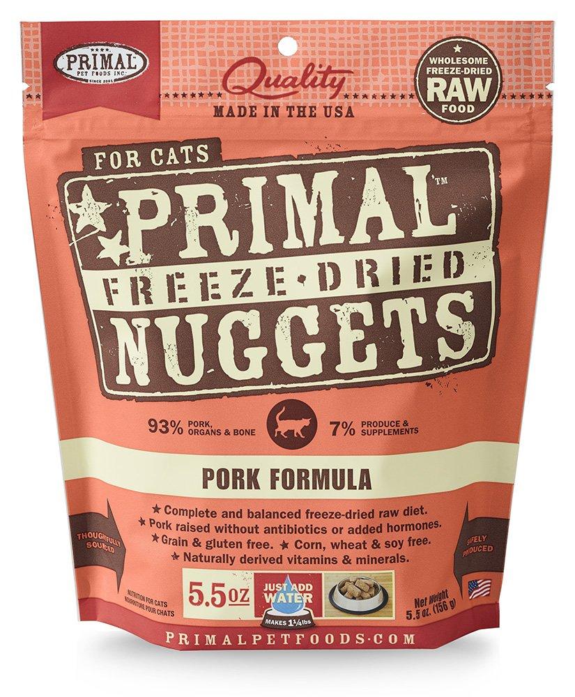 5.5 oz. Primal FPKFD5.5 Pet Foods Freeze-Dried Feline Pork Formula, 5.5 oz.