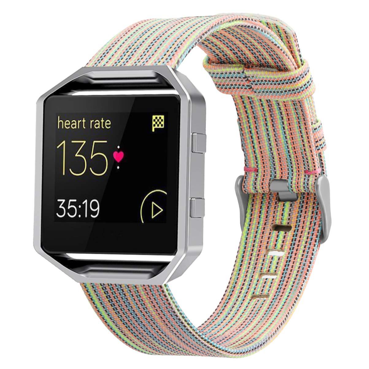REPOO Fitbit Blaze用腕時計バンド スポーツスタイル キャンバス製 リストブレスレット 交換用 Fitbit Blazeスマートウォッチ用 B07Q1BHV8Z カラー Small