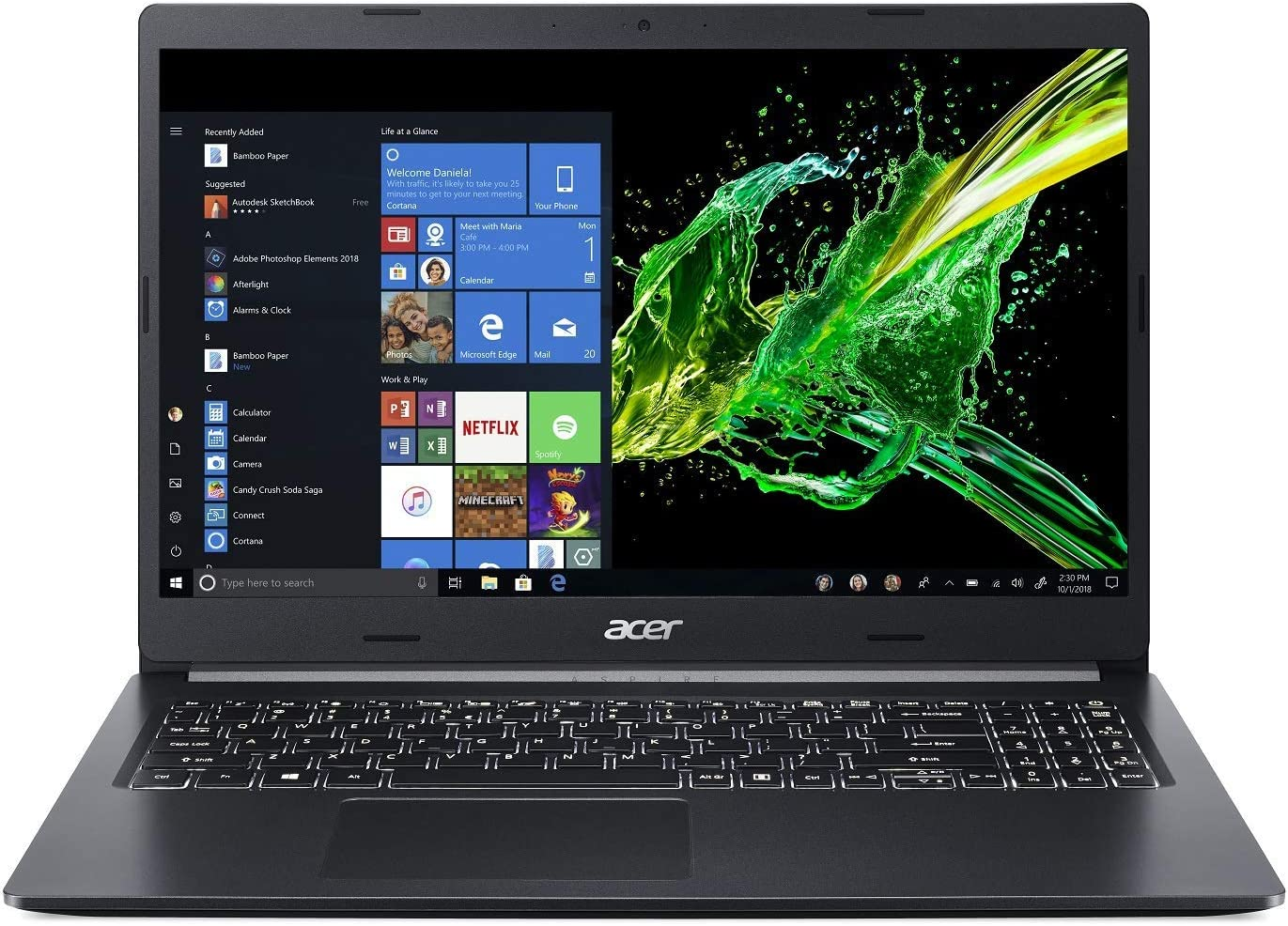 "Acer Aspire 5 Slim Laptop, 15.6"" Full HD IPS Display, 8th Gen Intel Core i7-8565U, NVIDIA GeForce MX250, 12GB DDR4, 512GB PCIe Nvme SSD, Windows 10 Home, A515-54G-73WC (Renewed)"