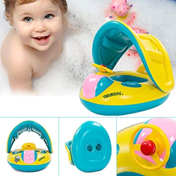 Amazon.com: 2016 Rainbowkids Baby Kids Toddler Swimming Pool Boat ...