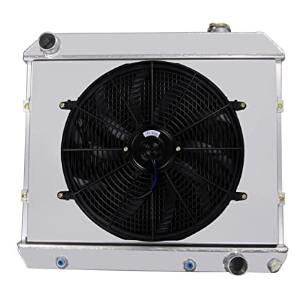 Amazoncom Primecooling 3 Row All Aluminum Radiator Fan 16 Inches