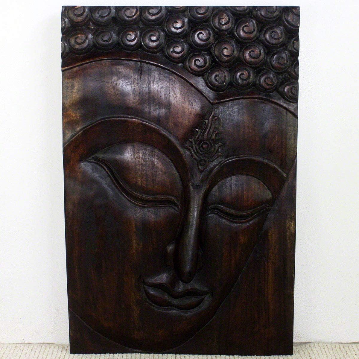 Haussmann Wood Buddha Panel Ushnisha 24