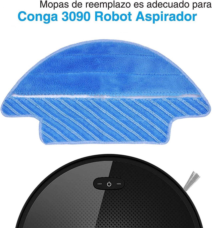 APLUSTECH Pack de 5 Mopas para Cecotec Conga Excellence Serie 990 Aspiradora Robot.