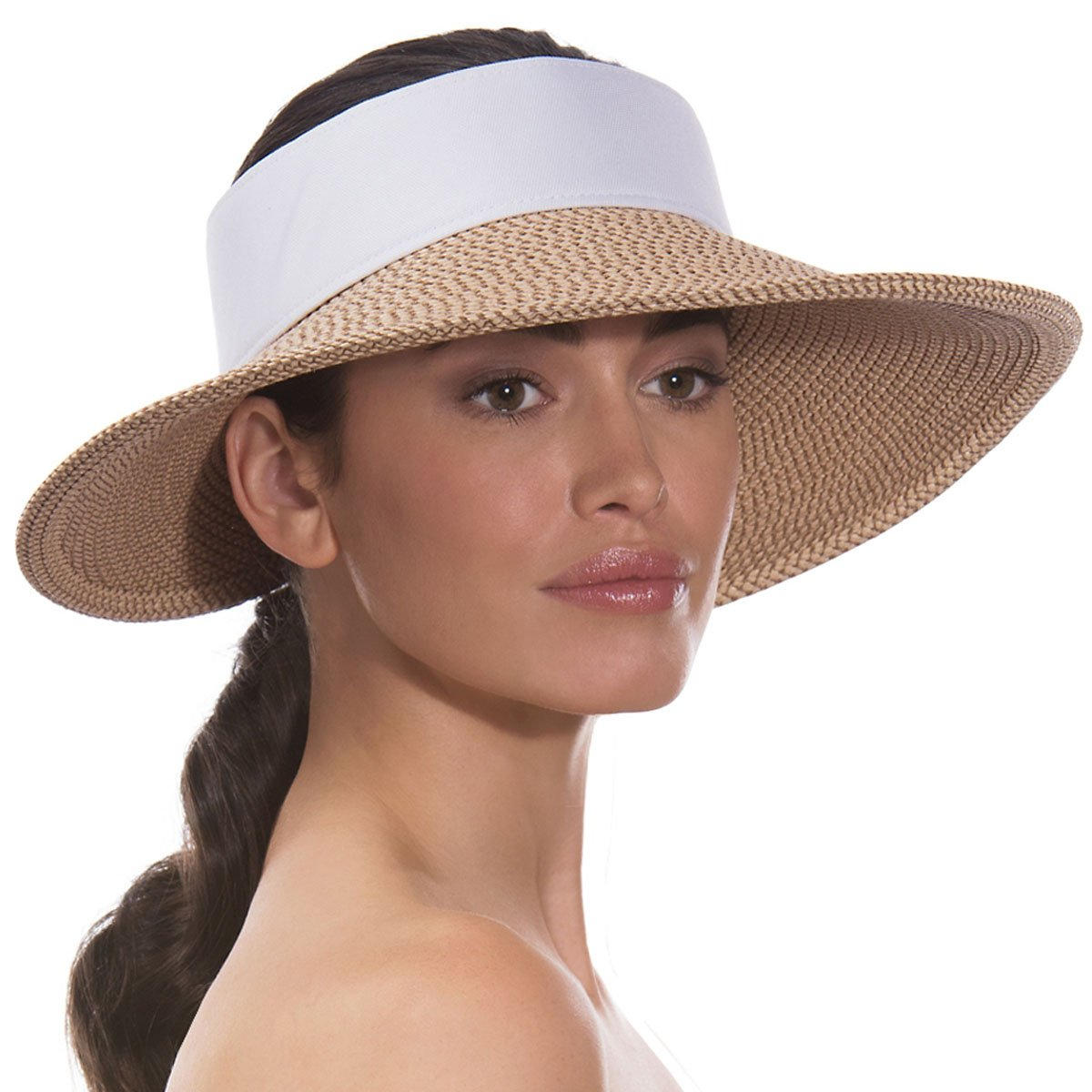 Eric Javits Women s Headwear Hat Squishee Halo One Size Peanut White   Amazon.co.uk  Shoes   Bags 630e08c528c