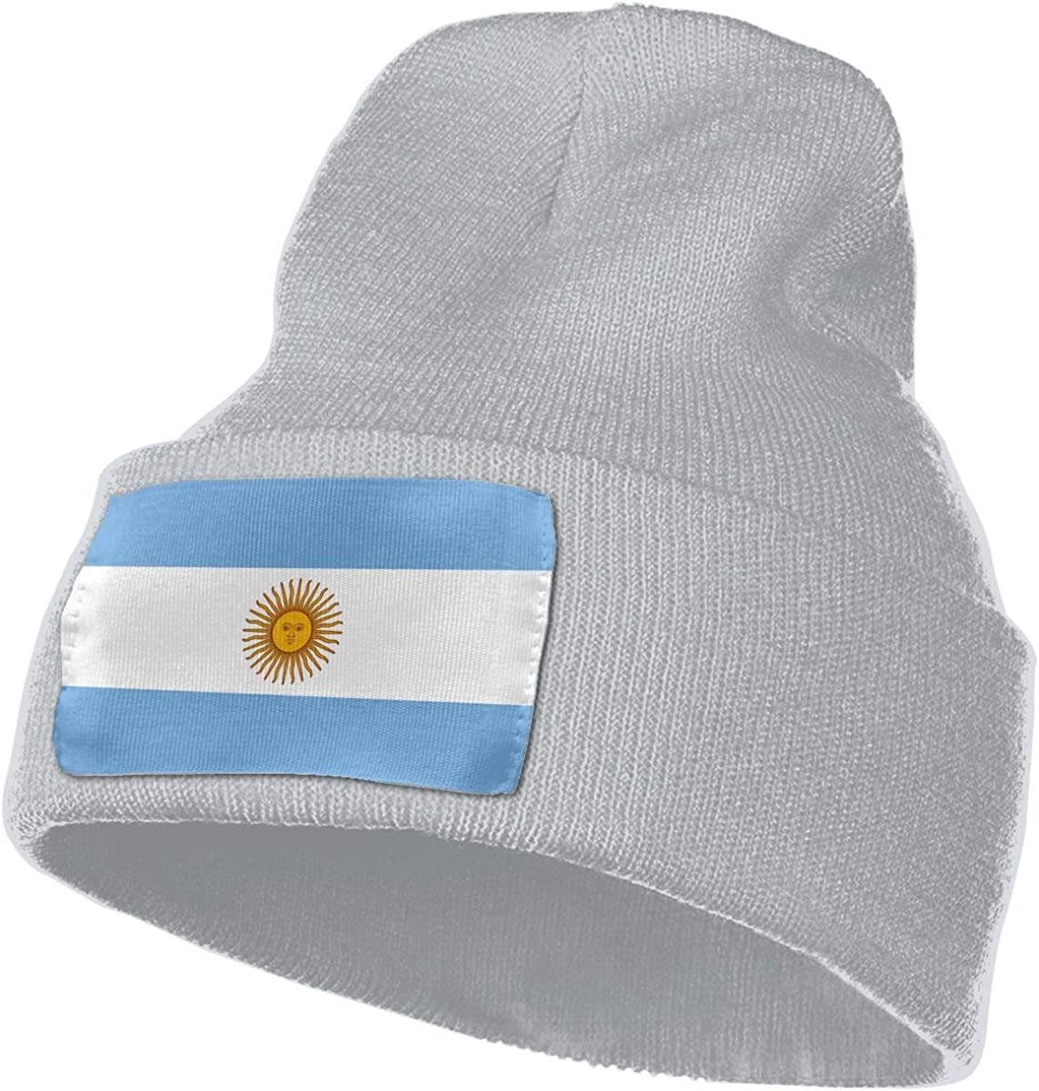 COLLJL-8 Unisex Argentina Flag Outdoor Warm Knit Beanies Hat Soft Winter Skull Caps