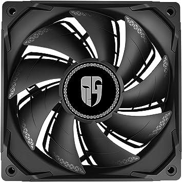 DEEP COOL TF120S, Ventilador Negro de 120 mm para PC, Aspas de ...