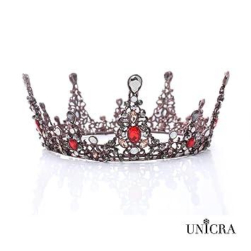 amazon com unicra baroque black crown wedding crystal tiaras and