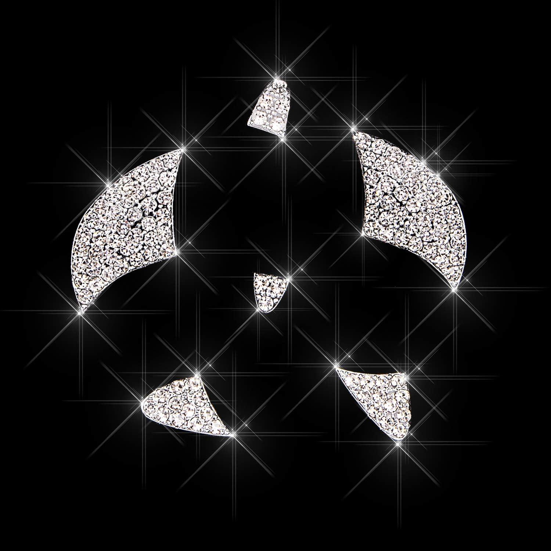 Unique Gift for Women for Mazda Charrost Bling Bling Car Steering Wheel Logo Badge Emblem Cover Diamond Decoration