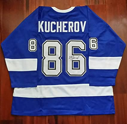 Image Unavailable. Image not available for. Color  Nikita Kucherov  Autographed Signed Jersey ... 7ced52521