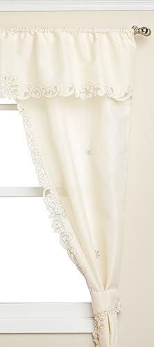 LORRAINE HOME FASHIONS Litchfield Window Curtain Panel, 60 x 63, Ecru Toast