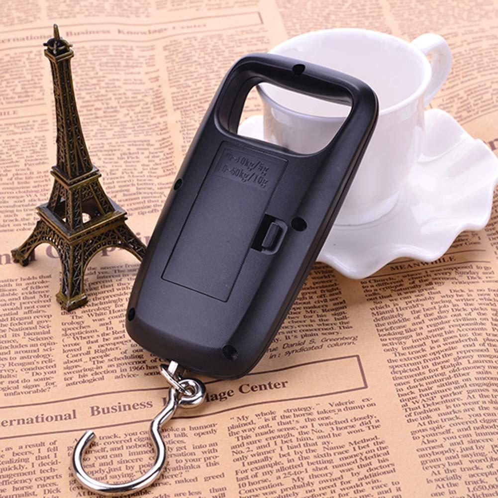 CHoppyWAVE 50Kg//110lb Digital Luggage Scale,Travel Mini LCD Digital Luggage Scale Hanging Hook Weight Balance Golden