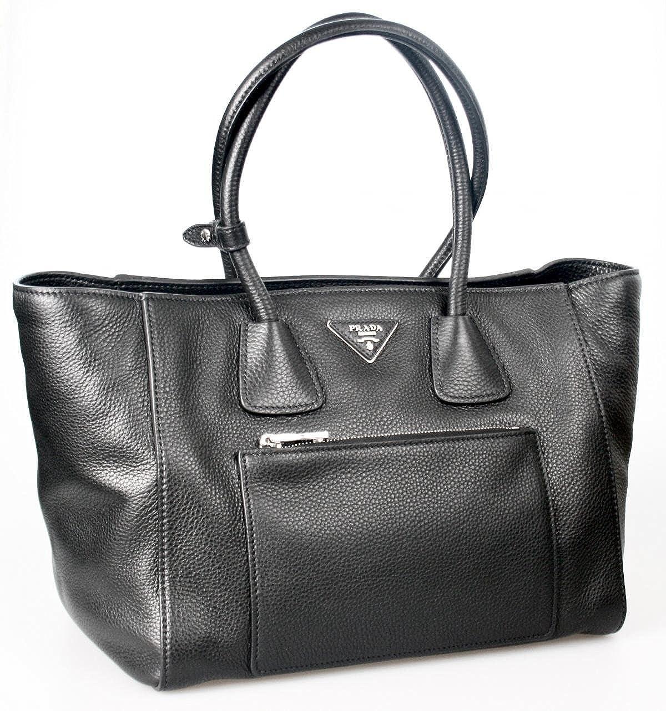 41ae0f9d46a6 Prada Women s BN2795 Black Leather Shoulder Bag  Handbags  Amazon.com