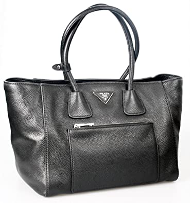 Prada Women s BN2795 Black Leather Shoulder Bag  Handbags  Amazon.com 00c5e75888995