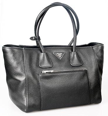 4003b10a7043b9 Prada Women's BN2795 Black Leather Shoulder Bag: Handbags: Amazon.com