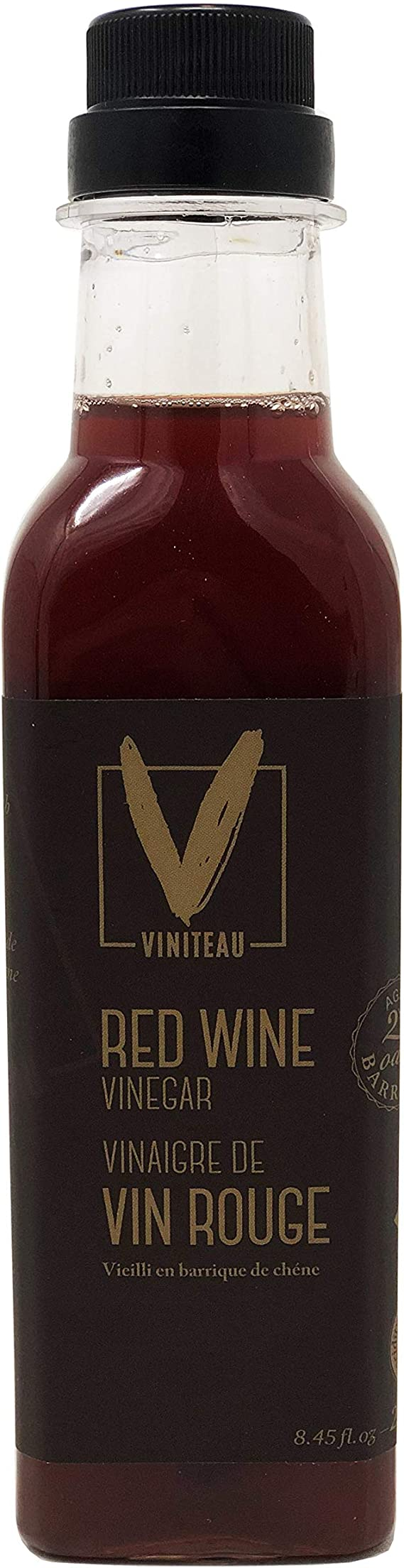 Viniteau Red Wine Vinegar Aged 2yrs - 8.45 fl oz (250 ml) | Imported From Italy