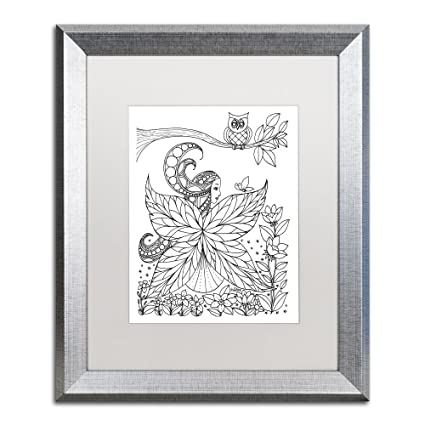 Trademark Fine Art \'Fairy 6\' Silver Framed Art by KCDoodleArt ...