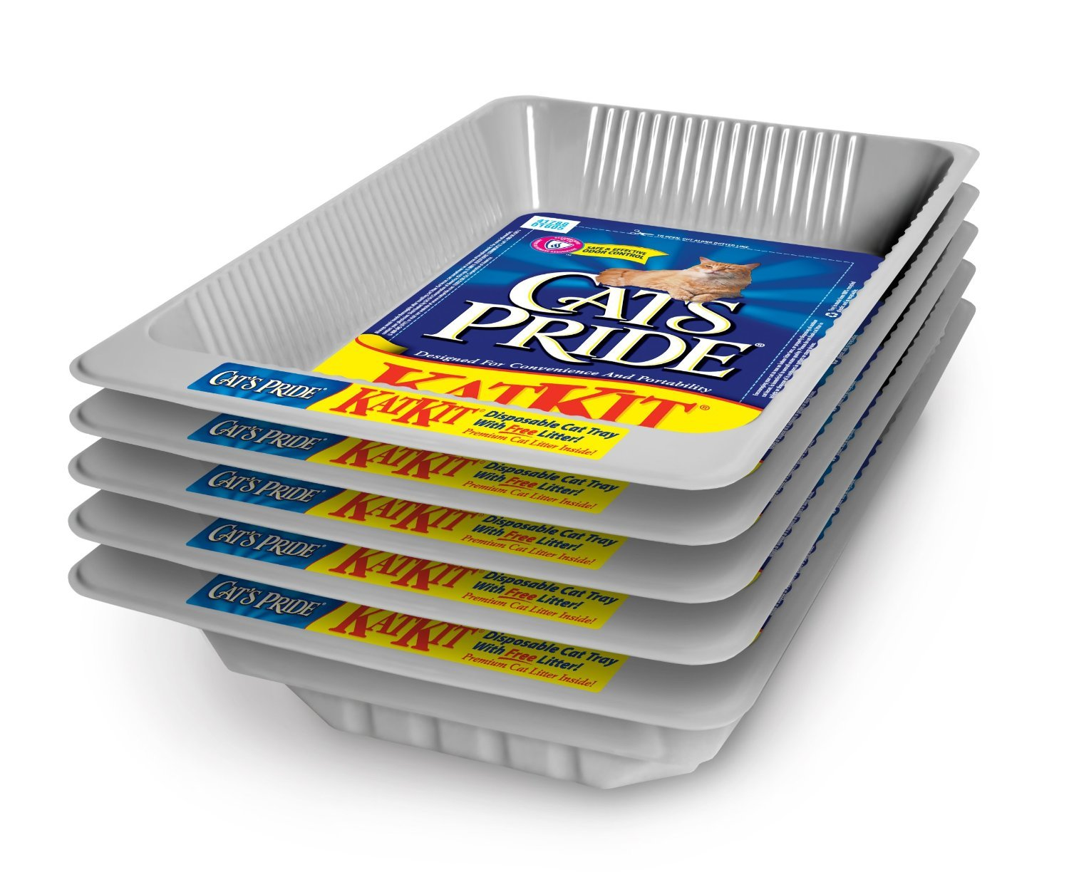Cat's Pride, Disposable Litter Pan, Includes Pan & Litter All In One (Pack of 5) by Cat's Pride (Image #1)