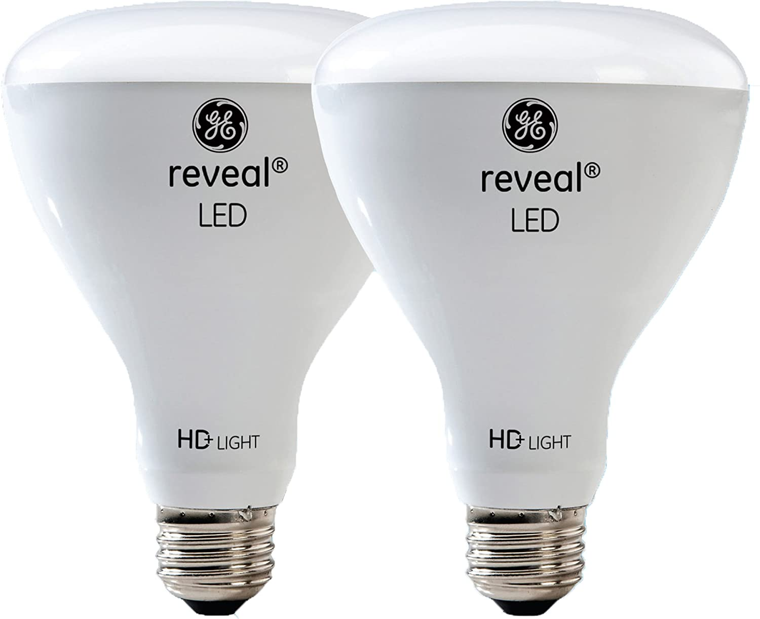 GE Lighting Reveal HD LED 11-watt (65-watt Replacement), 650-Lumen R30 Light Bulb with Medium Base, 2-Pack