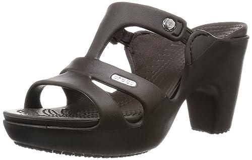 40700f414 Crocs Women s Cyprus V Heel W Heeled Shoes Brown  Amazon.co.uk ...