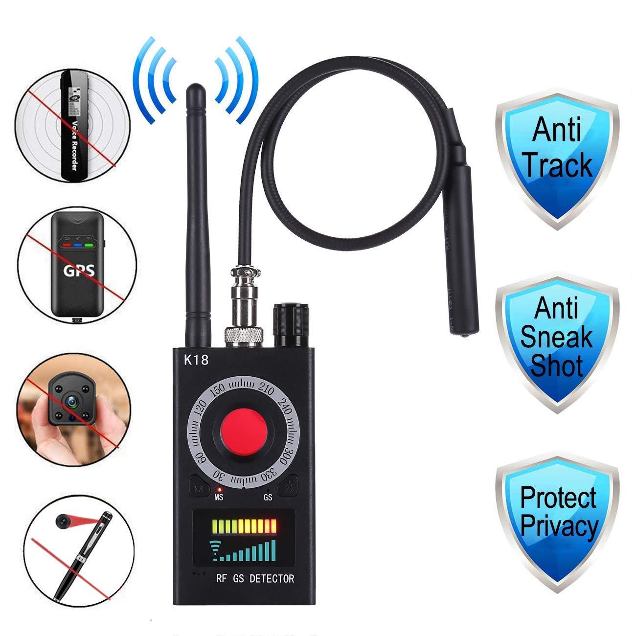 Anti Spy Detector & Camera Finder RF Signal Detector GPS Bug Detector Hidden Camera Detector for GSM Tracking Device GPS Radar Radio Frequency Detector by Valpha