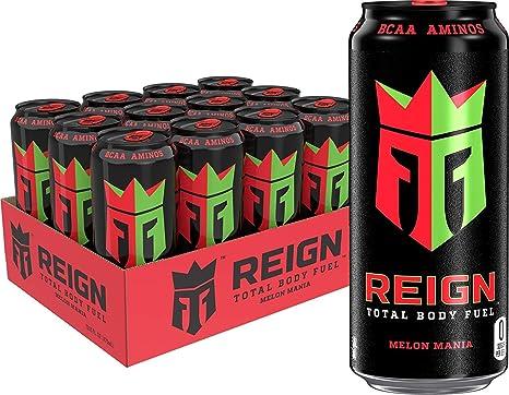 Oferta amazon: Bebida energética Reign de Monster, pack de 12, sabores a elegir, 500 ml, manzana ácida