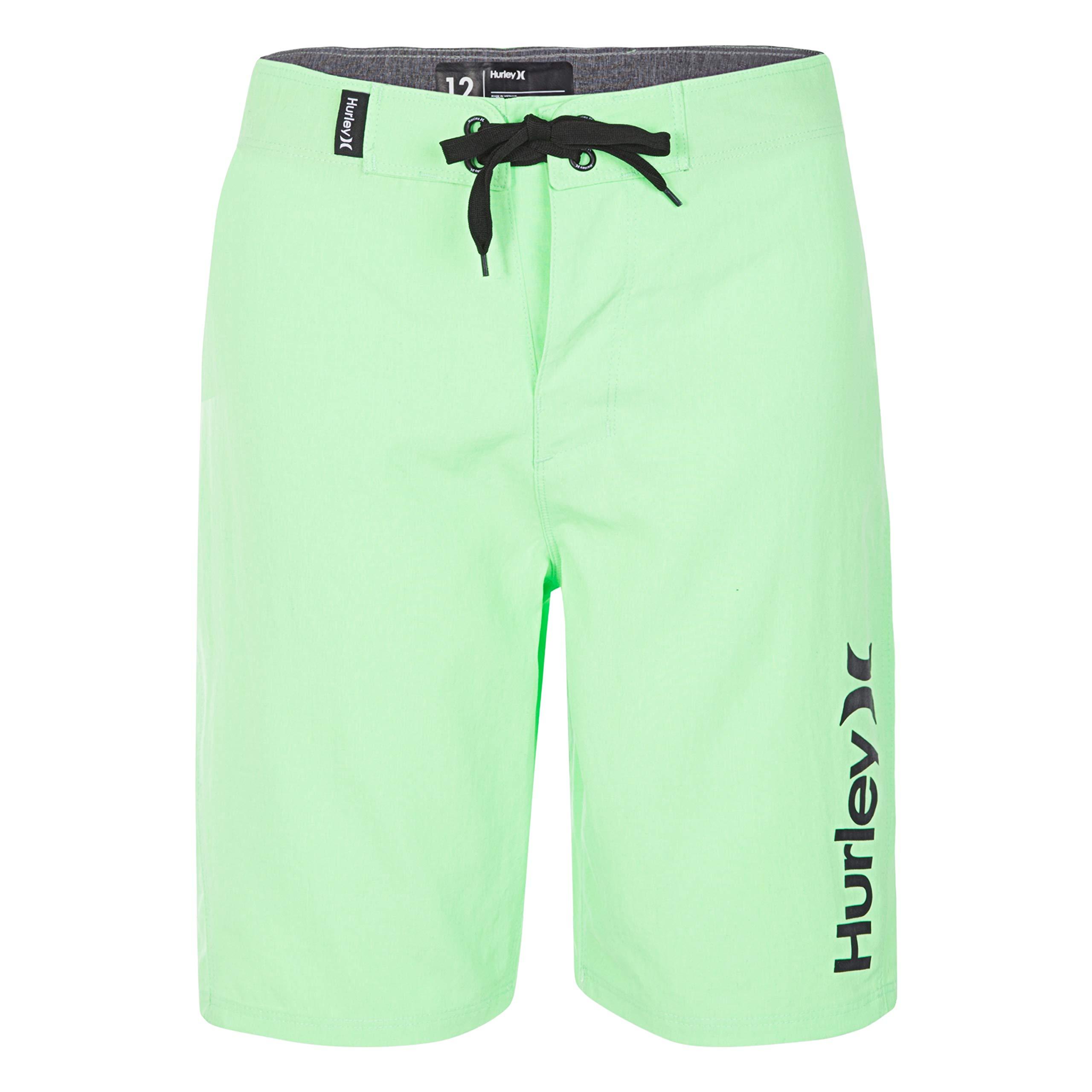 Hurley Big Boys' Board Shorts, Neon Green Heather, 16